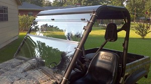 Fold Down Windshield (Clear or Tinted) for Yamaha Rhino by Dot Weld