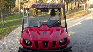 Half Windshield (Clear or Tinted) for Yamaha Rhino by Dot Weld