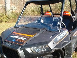 Half Windshield (Clear or Tinted) for Polaris RZR XP1000 / RZR 900 / XP Turbo by Dot Weld
