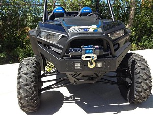 EMP RZR 1000 & RZR 900 Extreme Front Bumper w/ Winch Mount & LED Lights