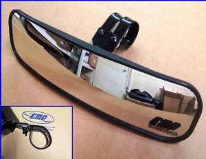 EMP 13 inch Wide Panoramic Rear View Mirror (fits 1-1/2 to 1-5/8 inch bars)
