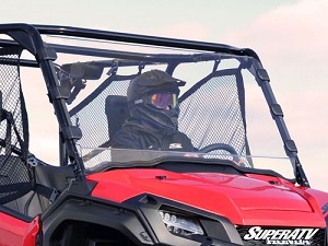 Super ATV Scratch Resistant Full Windshield for Honda Pioneer 1000