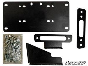 Super ATV Winch Mounting Plate for Kawasaki Mule Pro FXT