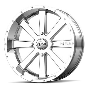 Motosport Alloys M34 Flash 20 Inch Chrome Wheels (with optional mounted tires)