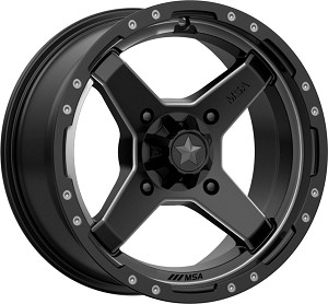 MSA M39 Cross Wheels, 15 Inch Satin Black Titanium Tint (with optional mounted tires)