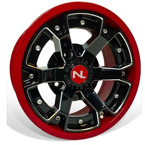 No Limit Deuce 14 Inch 2 Piece Dark Red Wheels (matches Honda Red)