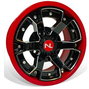 No Limit Deuce 14 Inch 2 Piece Red Wheels (matches Polaris Indy Red, Can Am Viper Red)