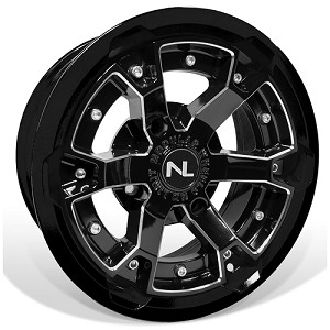 No Limit Deuce 15 Inch 2 Piece Glossy Black Wheels