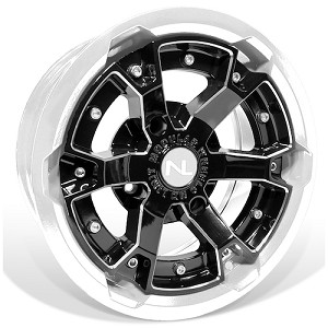 No Limit Deuce 15 Inch 2 Piece White Wheels