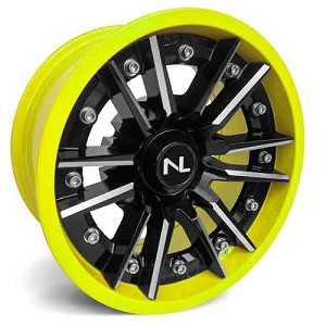 No Limit Storm 14 Inch 2 Piece Lime Squeeze Wheels