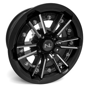 No Limit Storm 15 Inch 2 Piece Glossy Black Wheels