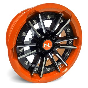 No Limit Storm 15 Inch 2 Piece Orange Wheels (Orange Madness, Spectra Orange, Honda Orange)