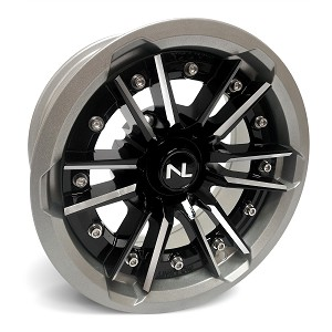 No Limit Storm 15 Inch 2 Piece Silver Wheels