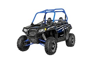 Pro Armor 2014 Stealth Black (Blue Cage) Extreme Door Graphic Kit for Polaris RZR S