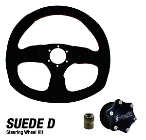DragonFire Racing Quick Release Suede D Shape Steering Wheel Kit