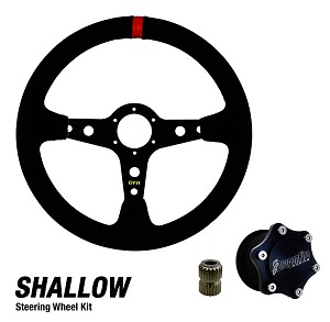 DragonFire Racing Quick Release Shallow Suede Steering Wheel Kit