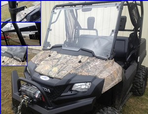 EMP Honda Pioneer 700 Hard Coated Full Windshield