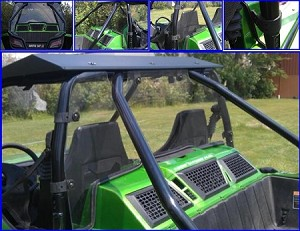 EMP Polycarbonate Rear Dust Shield for Arctic Cat Wildcat With Fast Straps