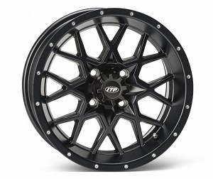 ITP Storm-Series Hurricane ATV Wheels - 12 Inch Matte Black