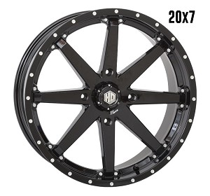 STI HD10 20 Inch Wheels, Glossy Black (with optional mounted tires)