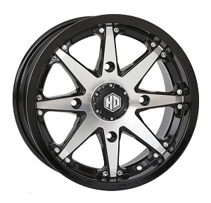 STI HD10 ATV Wheels, 14 Inch Glossy Black Machined
