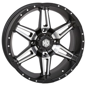 STI HD7 Wheels, 17 Inch Matte Black Machined (with optional mounted tires)