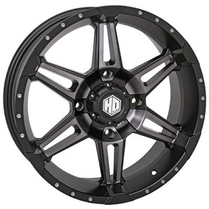 STI HD7 Wheels, 17 Inch Matte Black Smoked (with optional mounted tires)