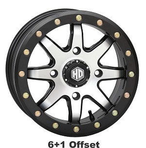 STI HD9 CompLock 6+1 Offset Beadlock Wheels, 15 inch Machined