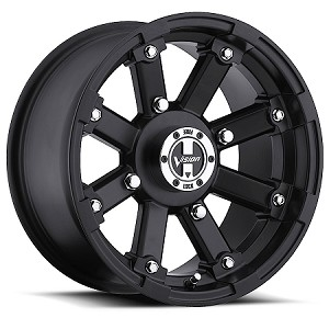 Vision 393 Lock Out ATV Wheels - 12 inch Matte Black