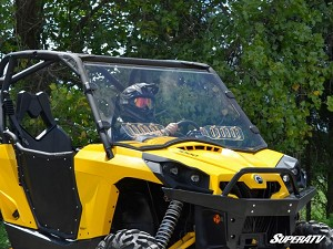 Super ATV Scratch Resistant Vented Full Windshield for Can-Am Commander