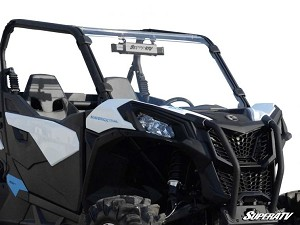Super ATV Scratch Resistant Full Windshield for Can-Am Maverick Trail / Sport