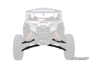 Super ATV Boxed High Clearance Front A-Arms for Can-Am Maverick X3