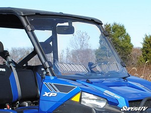 Super ATV Scratch Resistant Full Vented Windshield for Polaris Ranger XP 900 / 570