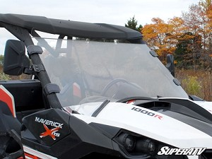 Super ATV Scratch Resistant Full Windshield for Can-Am Maverick