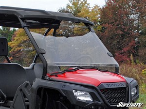 Super ATV Scratch Resistant Full Windshield for Honda Pioneer 500