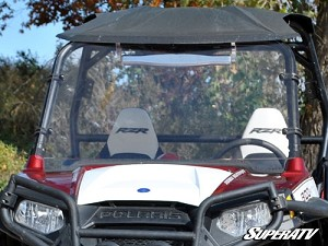 Super ATV Scratch Resistant Full Windshield for Polaris RZR