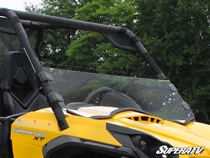 Super ATV Half Windshield for Can-Am Commander