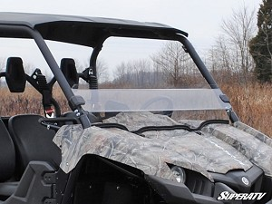 Super ATV Scratch Resistant Half Windshield for Yamaha Viking