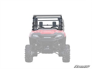 Super ATV Scratch Resistant Flip Down Windshield for Honda Pioneer 700