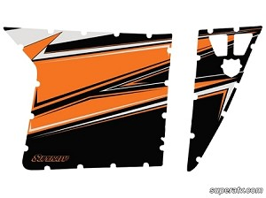 Super ATV Orange Madness-2012 Door Graphic Kit