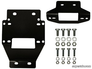 Super ATV Winch Mounting Plate for 4500 lb. Winches for Polaris RZR XP 900