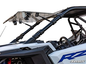 Super ATV Scratch Resistant Flip Windshield for Polaris RZR PRO XP