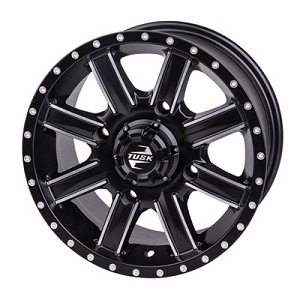 Tusk Cascade 14 Inch Wheels, Machined, 4+3 Offset