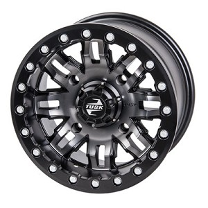 Tusk Teton 14 Inch Beadlock Wheels, Gun Metal/Black, 6+1 Offset