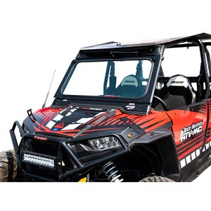 Tusk Folding Glass Windshield for Polaris RZR XP 1000 / RZR 900 / XP Turbo Models (2014-2018)