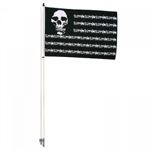 Tusk Skuklls and Stripes Flag / Whip w/ 6 Foot Pole