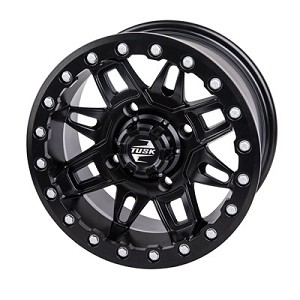 Tusk Wasatch 14 Inch Beadlock Wheels, Matte Black, 5+2 Offset