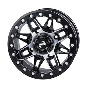 Tusk Wasatch 14 Inch Beadlock Wheels, Machined, 4+3 Offset