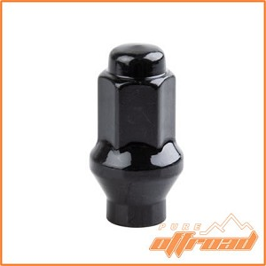 10x1.25 Extended Thread Beveled Lug Nuts for Arctic Cat Wildcat, Black, 14mm Hex