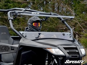Super ATV Scratch Resistant Flip Windshield for Arctic Cat wildcat Trail / Sport